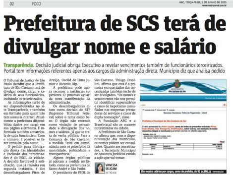 PREFEITURA DE SCS TERÁ DE DIVULGAR NOME E SALÁRIO