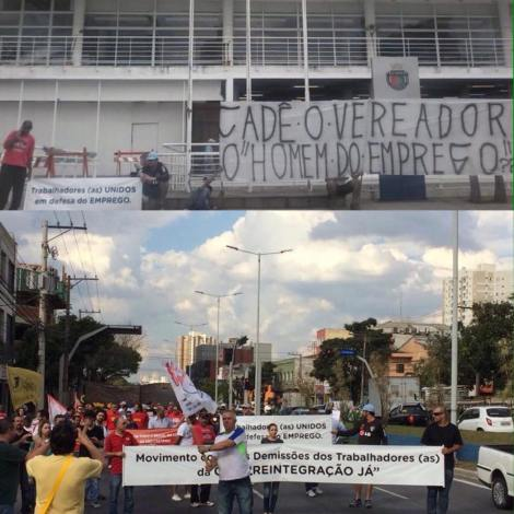 DEMITIDOS DA GM EM SCS CONTINUAM ACAMPAMENTO