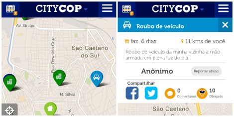 APLICATIVO DE CELULAR USA GPS PARA EVITAR CRIMES