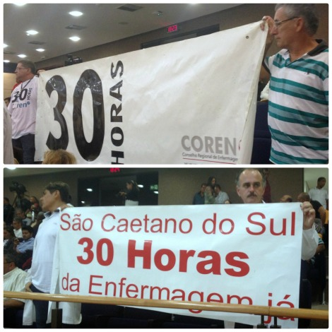 PROFISSIONAIS DA ENFERMAGEM PROTESTAM POR JORNADA SEMANAL DE 30 HORAS